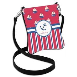 Sail Boats & Stripes Cross Body Bag - 2 Sizes (Personalized)