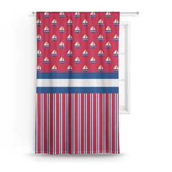 Sail Boats & Stripes Curtain (Personalized)