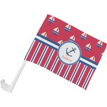 Sail Boats & Stripes Car Flag (Personalized)
