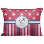 "Sail Boats & Stripes Decorative Baby Pillowcase - 16""x12"" (Personalized)"