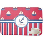 Sail Boats & Stripes Dish Drying Mat (Personalized)