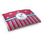 Sail Boats & Stripes Dog Bed (Personalized)