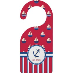 Sail Boats & Stripes Door Hanger (Personalized)