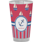 Sail Boats & Stripes Drinking / Pint Glass (Personalized)