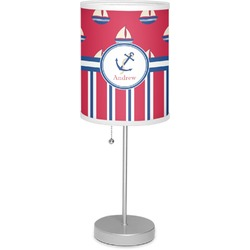"""Sail Boats & Stripes 7"""" Drum Lamp with Shade (Personalized)"""