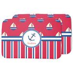 Sail Boats & Stripes Dish Drying Mat (Personalized)