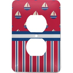 Sail Boats & Stripes Electric Outlet Plate (Personalized)