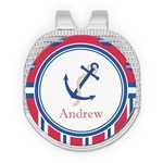 Sail Boats & Stripes Golf Ball Marker - Hat Clip