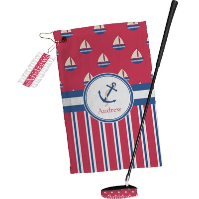 Sail Boats & Stripes Golf Towel Gift Set (Personalized)