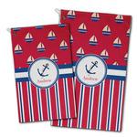 Sail Boats & Stripes Golf Towel - Full Print w/ Name or Text