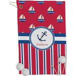 Sail Boats & Stripes Golf Towel - Full Print (Personalized)