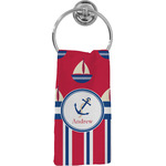 Sail Boats & Stripes Hand Towel - Full Print (Personalized)