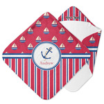 Sail Boats & Stripes Hooded Baby Towel (Personalized)