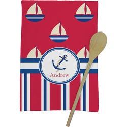 Sail Boats & Stripes Kitchen Towel - Full Print (Personalized)