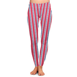 Sail Boats & Stripes Ladies Leggings (Personalized)