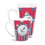 Sail Boats & Stripes Latte Mug (Personalized)