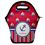 Sail Boats & Stripes Lunch Bag w/ Name or Text