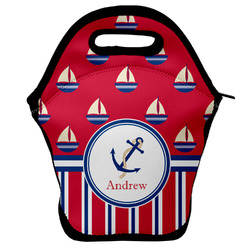 Sail Boats & Stripes Lunch Bag (Personalized)