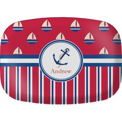 Sail Boats & Stripes Melamine Platter (Personalized)