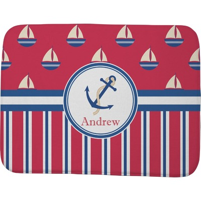 Sail Boats & Stripes Memory Foam Bath Mat - 48