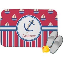 Sail Boats & Stripes Memory Foam Bath Mat (Personalized)