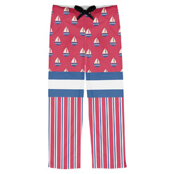 Sail Boats & Stripes Mens Pajama Pants (Personalized)