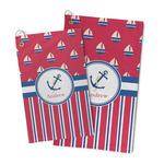 Sail Boats & Stripes Microfiber Golf Towel (Personalized)