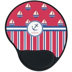 Sail Boats & Stripes Mouse Pad with Wrist Support