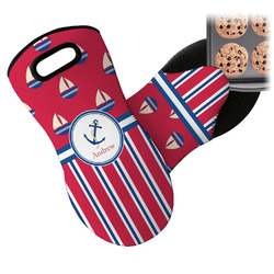 Sail Boats & Stripes Neoprene Oven Mitt (Personalized)