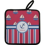 Sail Boats & Stripes Pot Holder (Personalized)