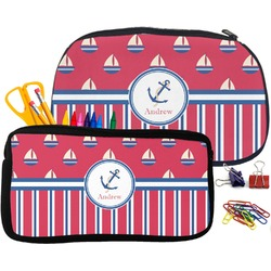 Sail Boats & Stripes Pencil / School Supplies Bag (Personalized)