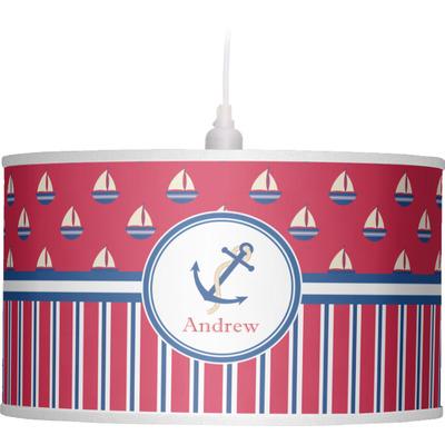 Sail Boats & Stripes Drum Pendant Lamp (Personalized)