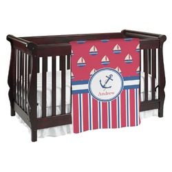 Sail Boats & Stripes Baby Blanket (Personalized)