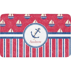 Sail Boats & Stripes Bath Mat (Personalized)