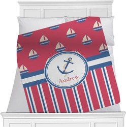 Sail Boats & Stripes Blanket (Personalized)