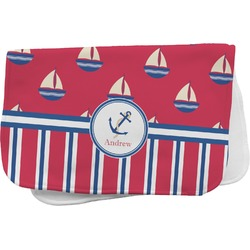 Sail Boats & Stripes Burp Cloth (Personalized)