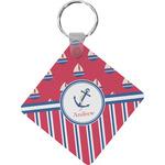 Sail Boats & Stripes Diamond Key Chain (Personalized)