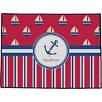 Sail Boats & Stripes Door Mat (Personalized)
