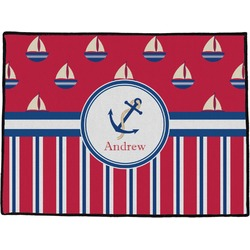 "Sail Boats & Stripes Door Mat - 60""x36"" (Personalized)"