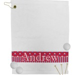 Sail Boats & Stripes Golf Towel (Personalized)