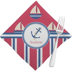 Sail Boats & Stripes Napkins (Set of 4) (Personalized)