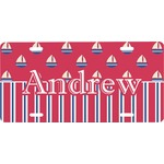 Sail Boats & Stripes Front License Plate (Personalized)