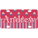 Sail Boats & Stripes Mini / Bicycle License Plate (Personalized)