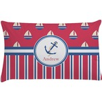 Sail Boats & Stripes Pillow Case - Standard (Personalized)