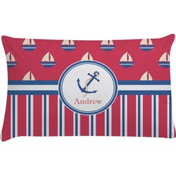 Sail Boats & Stripes Pillow Case (Personalized)