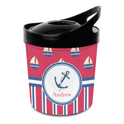 Sail Boats & Stripes Plastic Ice Bucket (Personalized)