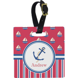 Sail Boats & Stripes Luggage Tags (Personalized)
