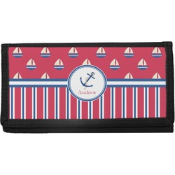 Sail Boats & Stripes Canvas Checkbook Cover (Personalized)