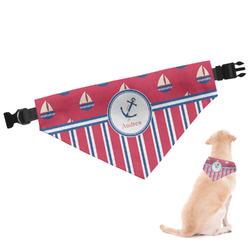 Sail Boats & Stripes Dog Bandana (Personalized)