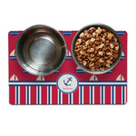 Sail Boats & Stripes Dog Food Mat (Personalized)